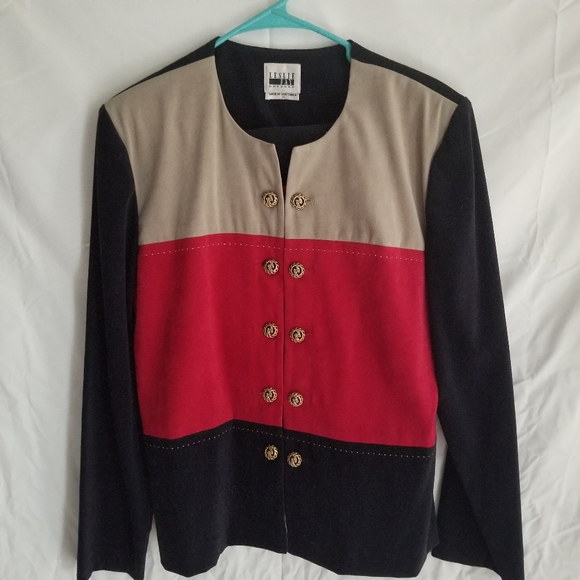 Leslie Fay Jackets & Blazers - Two piece red cream and black skirt suit